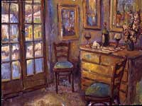 CAT# 1616  Interior with Still life  oil 30 x 40  Leif Nilsson Winter 1995 ©