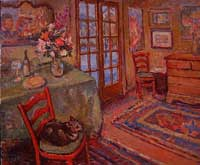 CAT# 2280  Interior with Self Portrait  oil 30 x 40  Leif Nilsson winter 2001 ©
