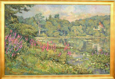 CAT# 2286  Jennings Pond  oil 48 x 72 inches Leif Nilsson Summer 2001 ©