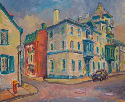 CAT# 2445 Old Quebec City oil 20 x 24 inches Leif Nilsson summer 1993 ©