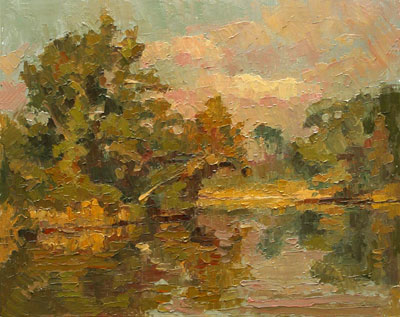 CAT# 2699  Selden's Creek Sycamore  oil 11 x 14 inches Leif Nilsson autumn 2004 ©