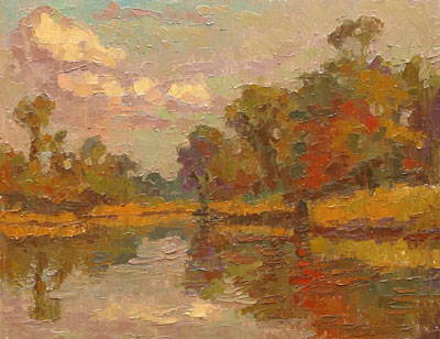 CAT# 2700  Selden's Creek South End  oil 11 x 14 inches Leif Nilsson autumn 2004 ©
