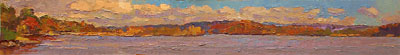 CAT# 2714  Autumn Morning on the Connecticut River  oil 4 x 34 inches Leif Nilsson autumn 2004 ©   CAT# 2714  Autumn Morning on the Connecticut River  oil 4 x 34 inches Leif Nilsson autumn 2004 ©