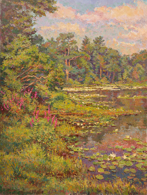 CAT# 2731  Jennings Pond  oil 36 x 30 inches Leif Nilsson summer 2005 ©