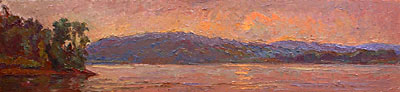 CAT# 2735 The Connecticut River  oil 9 x 39 inches Leif Nilsson summer 2005 ©