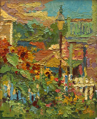 CAT# 2750  The Studio Garden  oil 10 x 8 inches Leif Nilsson summer 2005 ©