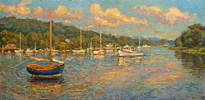 CAT# 2816  Deep River Landing  oil 24 x 48 inches Leif Nilsson summer 2006 ©