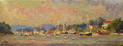 CAT# 2873 Deep River Landing oil 9 x 24 inches Leif Nilsson summer 2007©