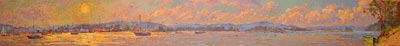CAT# 3008  Essex - Sunset  oil	18 x 96