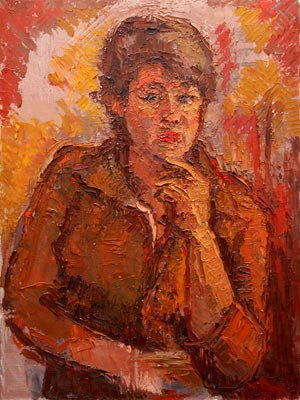 CAT# 3018  Portrait of Hedy  oil	24 x 18