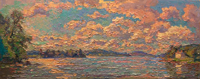 CAT# 3136  Hamburg Cove  oil	15 x 36