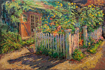 CAT# 3186  Path to the Studio - afternoon  oil	24 x 36  Leif Nilsson Summer 2012	©