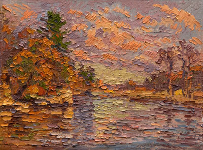 CAT# 3195  Selden's Creek - autumn afternoon  oil	9 x 12  Leif Nilsson autumn 2012	©