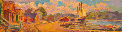 CAT# 3327  Mystic Seaport Museum  oil	9 x 20  Leif Nilsson summer 2015	©
