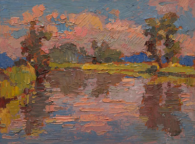 CAT# 3409  Selden's Creek  oil	9.75 x 12.75 inches Leif Nilsson Autumn 2016	©