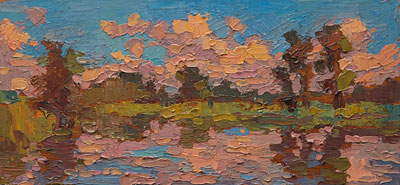 CAT# 3410  Selden's Creek  oil	5 x 10 inches Leif Nilsson Autumn 2016	©
