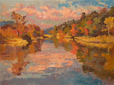 CAT# 3418  Selden's Creek  oil	30 x 40 inches Leif Nilsson Autumn 2016	©